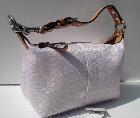 Coach Mini Signature Lilac Top Handle Bag