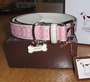 Coach Mini Signature Pink Dog Collar