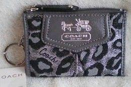 Coach Ocelot Mini Skinny Keychain Wallet