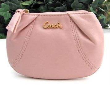 Coach Leather Parker Coin Purse with Keychain