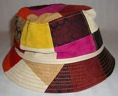 Coach Patchwork Suede Leather Bucket Hat