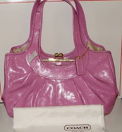 Coach Patent Leather Pink Ergo Satchel
