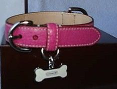 Coach Pink Leather Extra Small Dog Collar