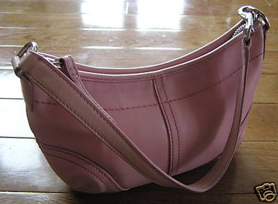 Coach Pink Leather Hobo Purse
