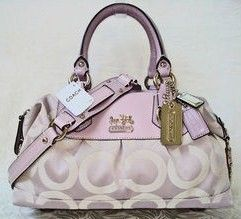 Coach Coach Pink Madison OP Art Sabrina Handbag