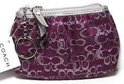 COACH Plum Lurex Mini Skinny 42035