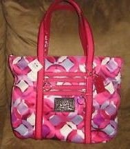 Coach Poppy Kaleidoscope Glam Tote Pink