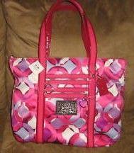 Coach Poppy Kaleidoscope Glam Tote Pink
