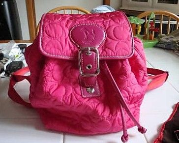 Coach Quilted Signature Hot Pink Backpack