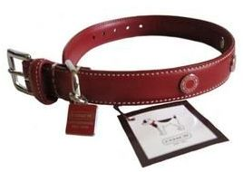 Coach Red Leather Dog Collar 8848