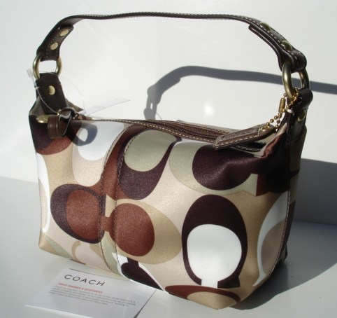 Coach Scarf print Top Handl Pouch Bag