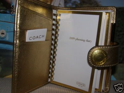Coach Sig Planner opened showing inside