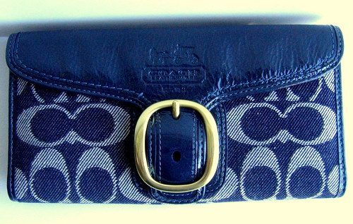 Coach Signature Denim Bleecker Wallet 41753