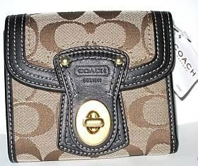 Coach Signature French Purse Clutch Wallet