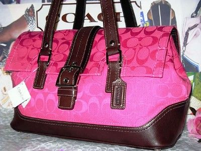 Coach Signature Hot Pink Satchel
