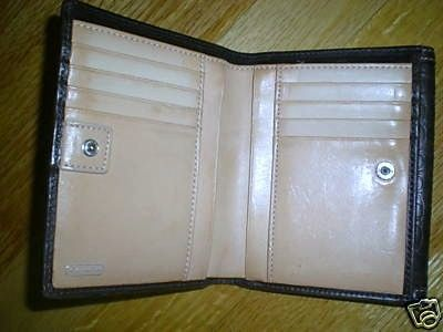 Coach Signature Leather Bifold Wallet Interior