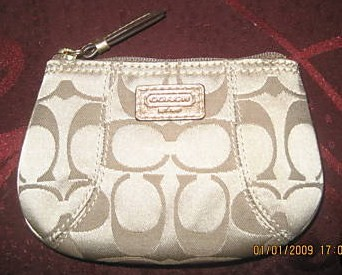 Coach Signature Mini Skinny Coin Purse