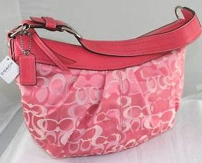 Coach Signature Optic Large Hobo Pink