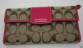 COACH Signature Penelope Checkbook Wallet 42181