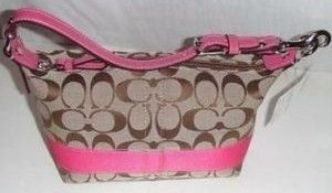 Coach Signature Stripe Purse 42617