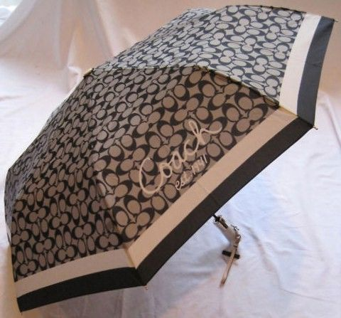 Coach Signature Umbrella Black & White F60588