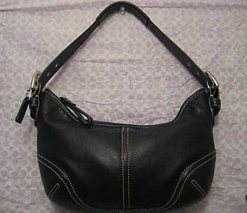 Coach Soho Black Leather Hobo Bag