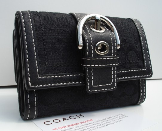 Coach Soho Signature Mini Wallet Black