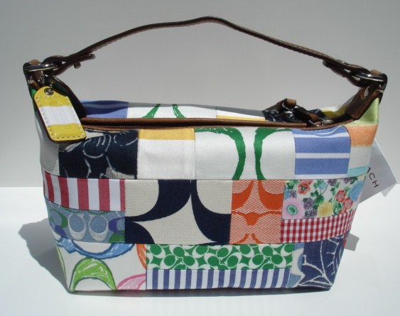 Coach Summer Patchwork Top Handle Cosmetic Pouch