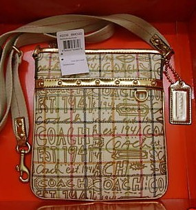 Coach Tattersal Graffiti Swing Pack 42239
