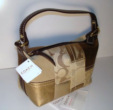 Coach Top Handle Holiday Patchwork