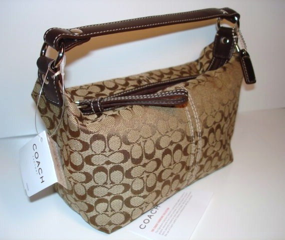 Coach Top Handle Khaki 40097