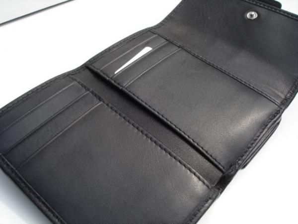 Coach Tri Fold Mini Wallet Inside Open View