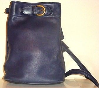 Coach Vintage Blue Leather Backpack Front