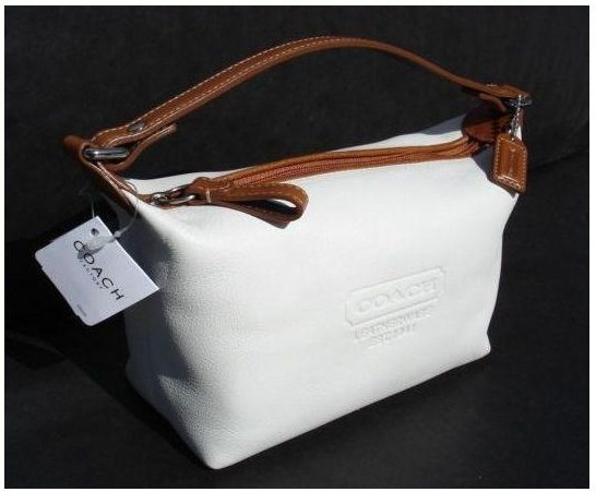 Coach White Leather Cosmetic Pouch Ebay