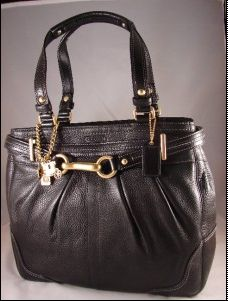 Coach leather Carryall Black Style 12467