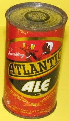 Collectible Atlantic Ale Flat Top beer Can