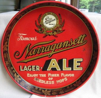 Collectible Vintage Narragansett Beer Tray