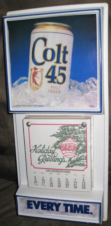 Colt 45 Malt Beer Vintage Bar Sign Calendar