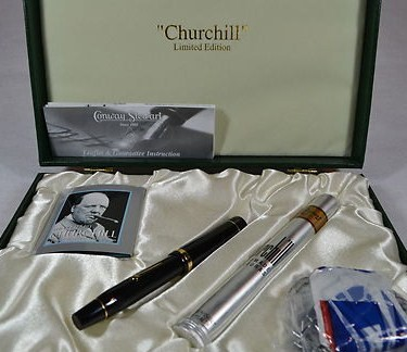 Conway Stewart Limited Edition Winston Churchill fountain Ink Pen Cigar WW2