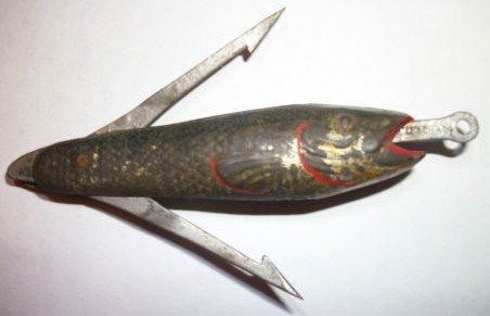 Cornelius Lie Bait Metal Mechanical Fishing Lure 1885 Patent