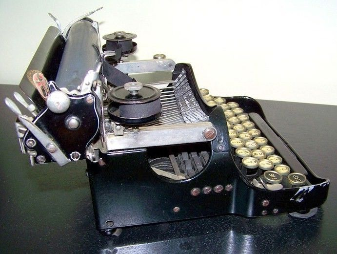 Corona Folding Typewriter Side View