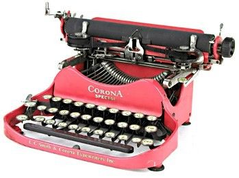 Corona No 3 Special Red Folding Typewriter