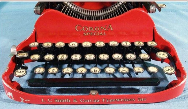 Corona Special Red Folding Typewriter