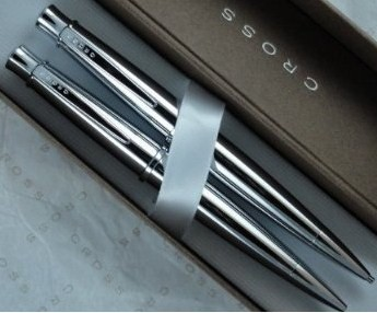 Cross Polished Delta Chrome Pen/Pencil set