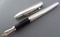 Cross Sterling Silver Century II Fountain Pen med nib