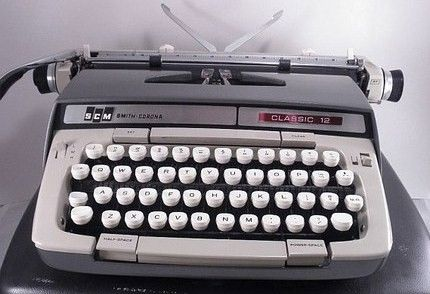 Vintage Smith Corona Cursive Model 12 Typewriter