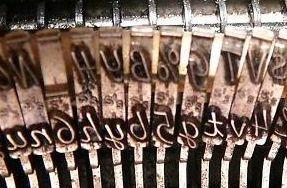 Cursive Typewriter Keys