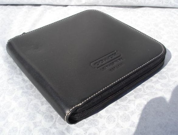 Coach Black Leather CD Travel Case