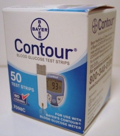 Bayer Contour Diabetic Test Strips 50 Count