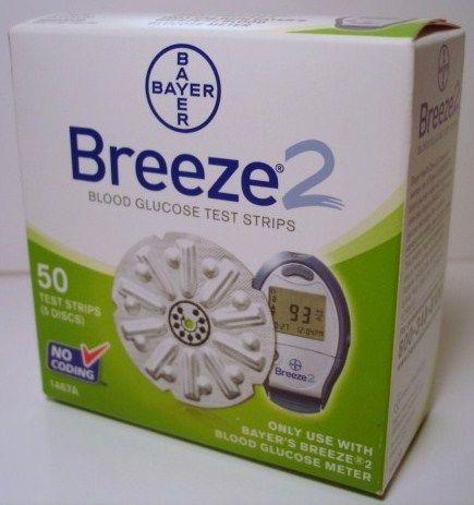 Breeze 2 Diabetic Test Strips 50 Count